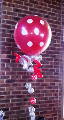 3ft bubble strand polka dots balloons
