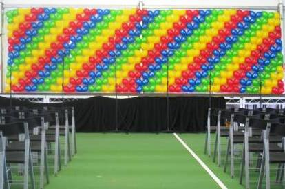 Striped Balloon Wall