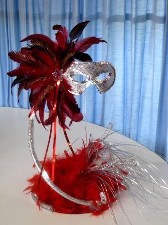 Masquerade Spiral Table Centre