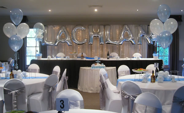 Lachlan Balloon Backdrop with Table Settings