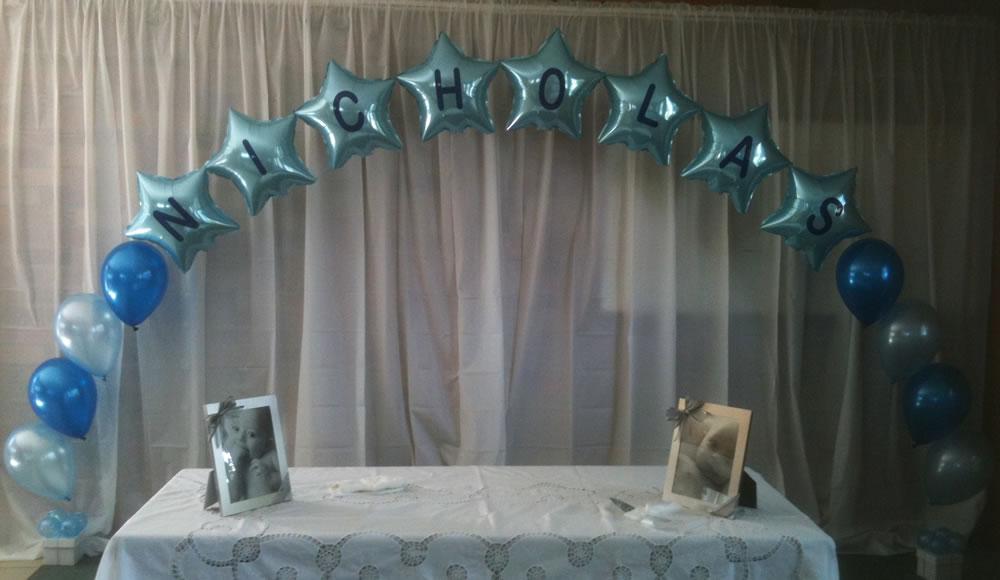 Nicholas Star Balloon Arch