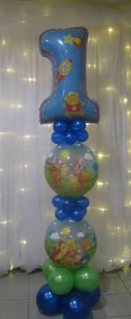 Number 1 Balloon bubble column