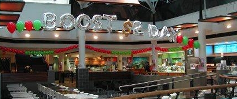Boost shopping Centre Promotion Balloon Letters