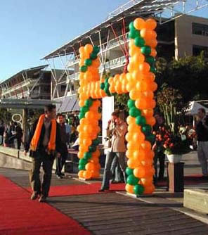 Goal Post Balloon Arch