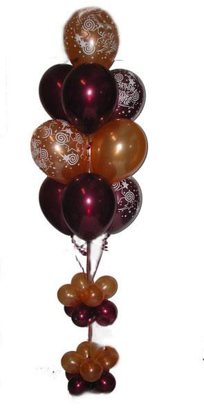 10 balloon floor bouquet