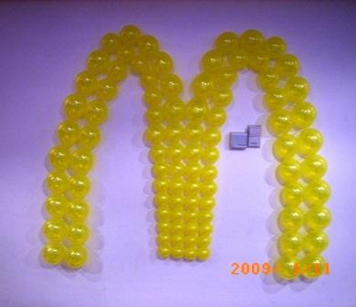 McDonalds Logo wall