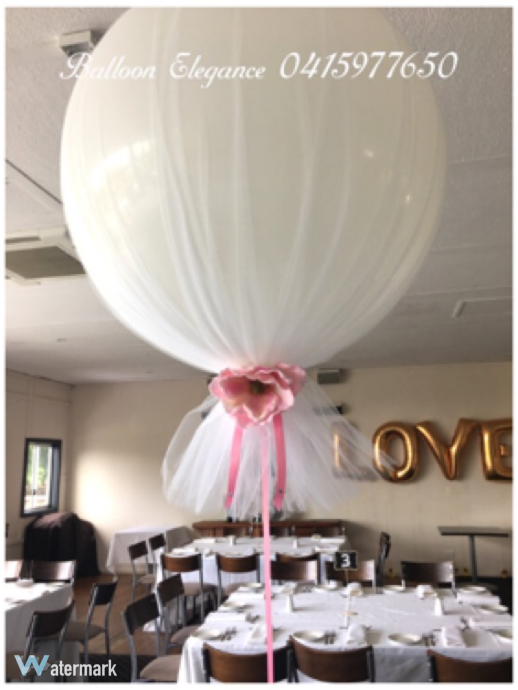Tulle Wedding Balloons