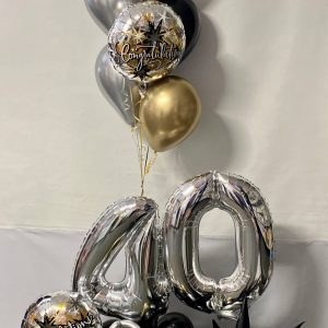 40th Marquee Bouquet $150.00 balloons online