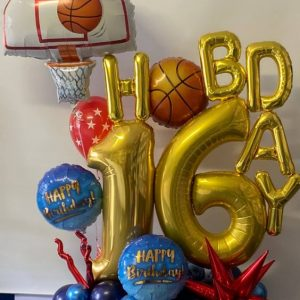 Basketball Marquee Bouquet $170.00 party shop near me