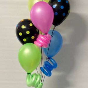 Neon Birthday Bouquet $50.00 balloons melbourne